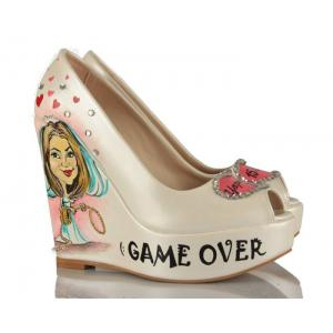 Game Over Tasarım Gelin Ayakkabısı