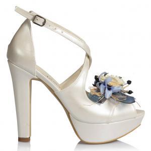 Gelin Ayakkabısı Bahar Tasarımı Kuru Çiçekler