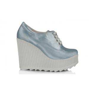 Gelin Ayakkabısı Bebe Mavi Spor Dolgu Topuk