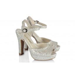 Свадебная Обувь С Блестками На Платформе