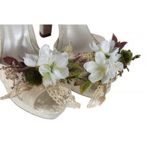 Gelin Ayakkabısı Çiçek Tasarımı