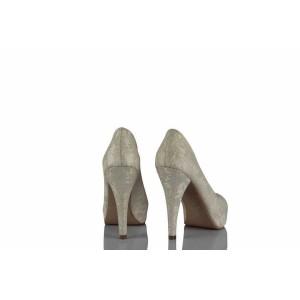 Gelin Ayakkabısı Krem Dantel 17 Pont