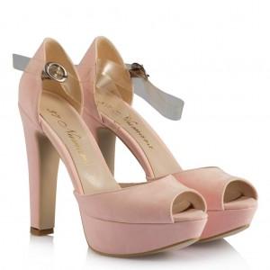 Gelin Ayakkabısı Pudra Pembe