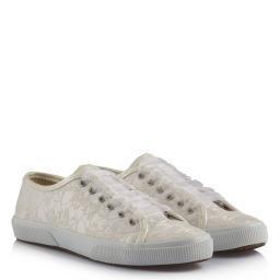 Gelin Ayakkabısı Vans Kırık Beyaz Dantelli