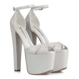 Gelin Ayakkabısı Yüksek Platform Modelleri