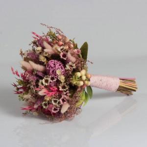 Gelin Buketi Pembenin Tonları Kuru Çiçek