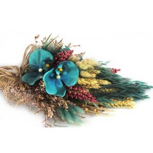 Gelin Çiçeği Mavi Orkideli Bohem