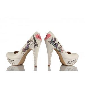 Gondoldaki Aşıklar Tasarımı Gelinlik Ayakkabı