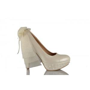 İncili Duvak Tasarımı Gelinlik Ayakkabısı