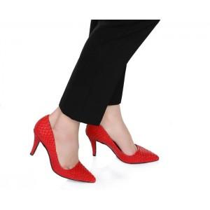 Kadın Kırmızı Stilletto Ayakkabı