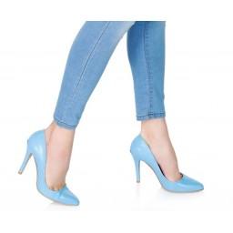 Kadın Stiletto Bebe Mavi Ayakkabı