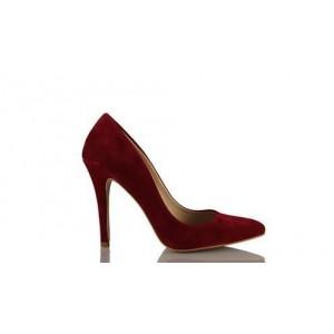 Kadın Stiletto Bordo Ayakkabı