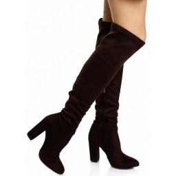 Kahverengi Dizüstü Streç Çizme
