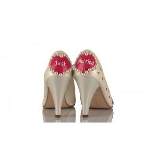 Kalpli Tasarım Gelinlik Ayakkabısı