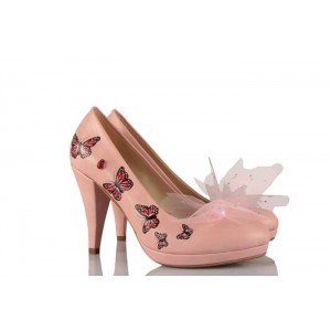 Kelebek Tasarım Gelinlik Ayakkabı