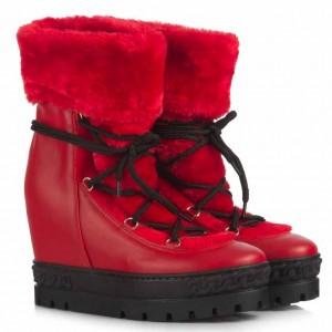 Kırmızı Kar Botu Kürklü
