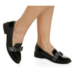Koyu Yeşil Rugan Fiyonklu Bayan Ayakkabı