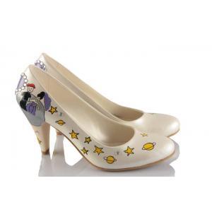Küçük Prens El Boyama Tasarım Gelinlik Ayakkabı