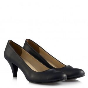 Lacivert Deri Casual Bayan Ayakkabı