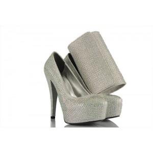 Lame Taşlı Ayakkabı Ve Portföy Takımı