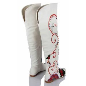 Mandala Tasarımı Gelinlik Çizmesi