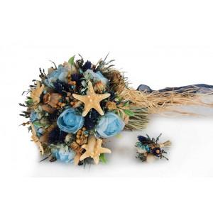 Mavi Deniz Yıldızı Buketi
