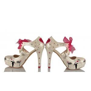 Memleket Temalı Gelin Ayakkabısı