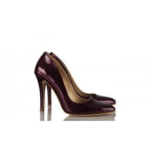Mor Damarlı  Stiletto Ayakkabı