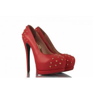 Nar Çiçeği Droplu Hakiki Deri Bayan Ayakkabı