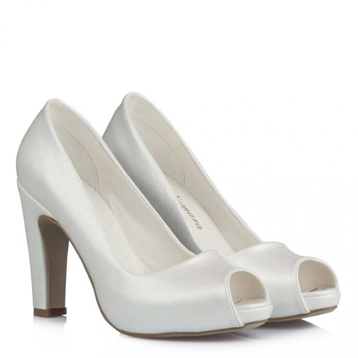 Nikah Ayakkabısı Asil İnci Beyazı