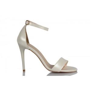 Nikah Ayakkabısı İnci Beyazı Tek Bantlı Zarif