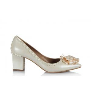 Nikah Ayakkabısı Kalın Topuk Tasarımlar