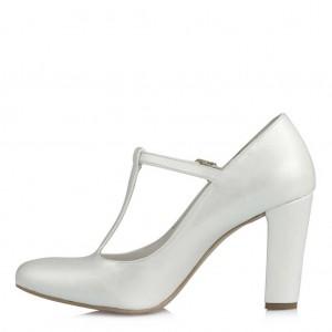 Nikah Ayakkabısı Sedef Kemerli Az Topuklu