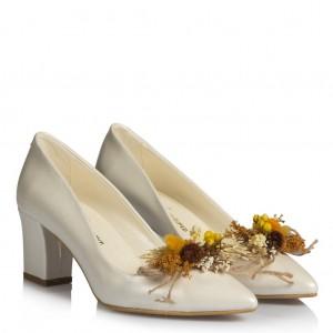 Nikah Ayakkabısı Tropikal Tasarım Tokalı