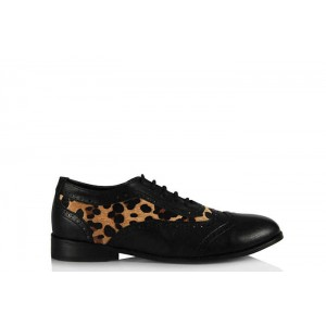 Oxford Ayakkabı Siyah Leopar
