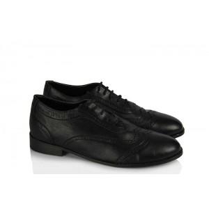Oxford Ayakkabı Siyah Mat Deri