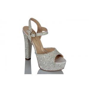 Platform Ayakkabı Beyaz Cam Kırığı