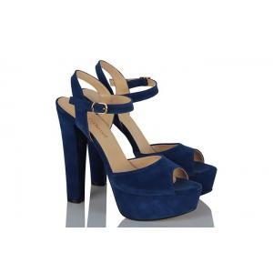 Platform Ayakkabı Saks Mavi Süet Modeli
