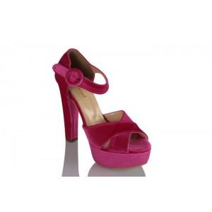 Platform Ayakkabı Şeker Pembe Kadife