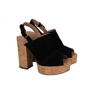 Platform Ayakkabı Siyah Süet
