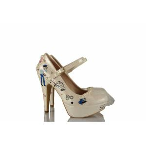 Polis Öğretmen Çift Tasarımı Gelin Ayakkabısı