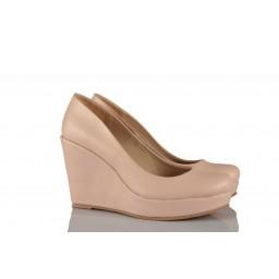 Кожаная Свадебная Обувь На Платформе 15 Понт Цвета Пудры