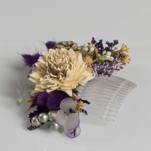 Renkli Kuru Çiçek Tasarım Saç Tokası