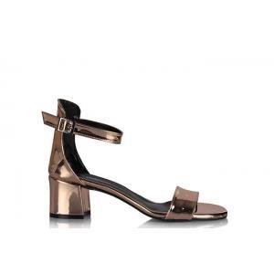 Sandalet Az Topuklu Bakır Ayna Tek Bantlı
