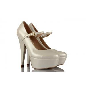 Sedef Deri 21 Pont Bantlı Gelinlik Ayakkabı