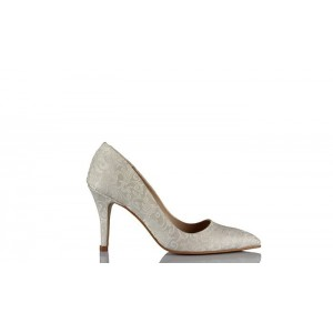 Sedef Osmanlı Desen Stiletto Gelin Ayakkabısı