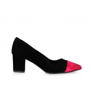 Siyah Pembe Stiletto Ayakkabı