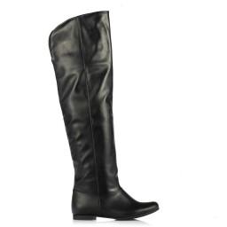 Siyah Renk Dizüstü Binici Kadın Çizme