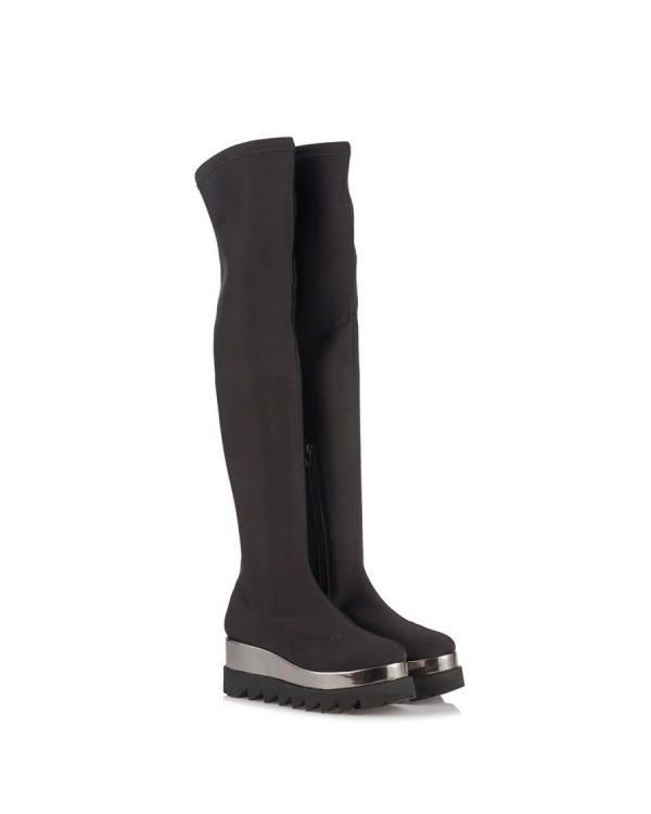 Siyah Streç Çorap Çizme