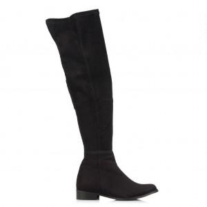 Siyah Süet Binici Streç Çorap Çizme